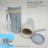 AB-0-1003環保小麥秸稈雙層保溫杯
