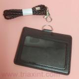 CC-0-1004PU皮證件套連皮頸繩